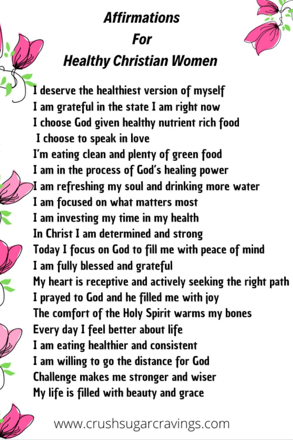 christian affirmations for weight loss | inspirational quotes