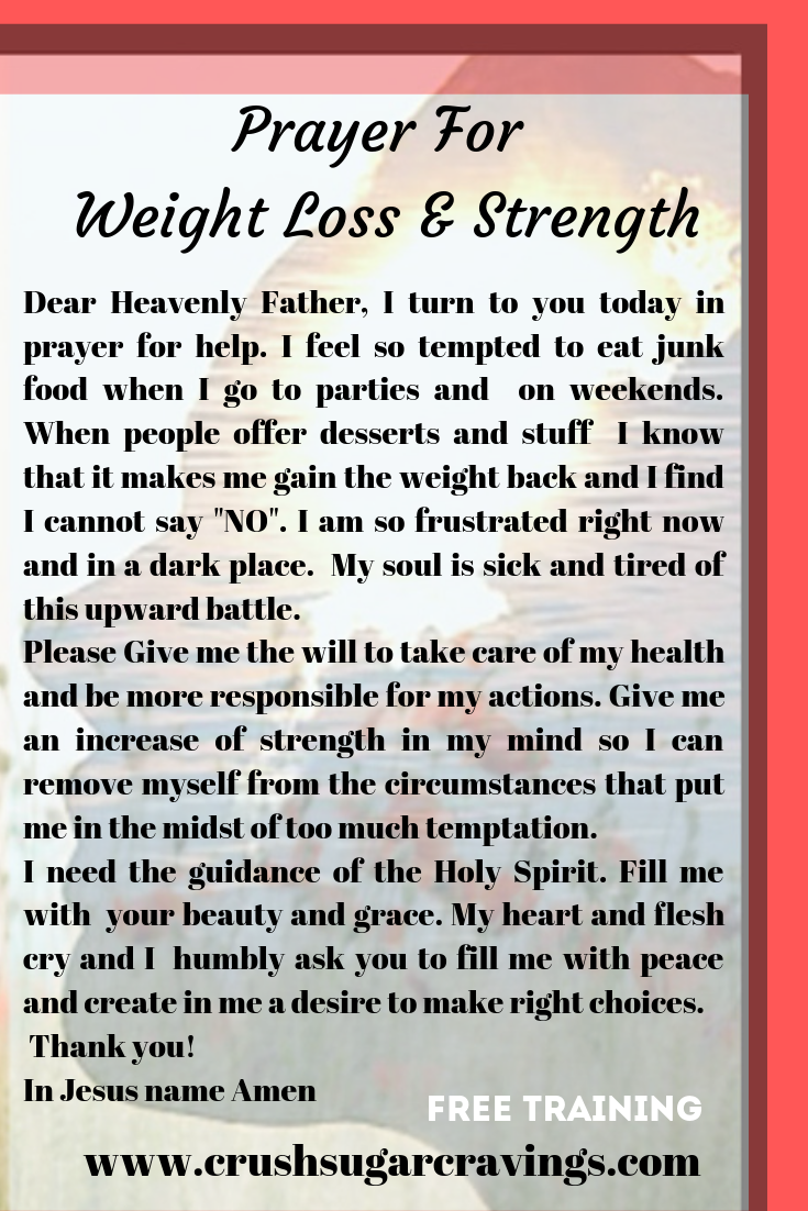 prayer for overeating | christian weight loss