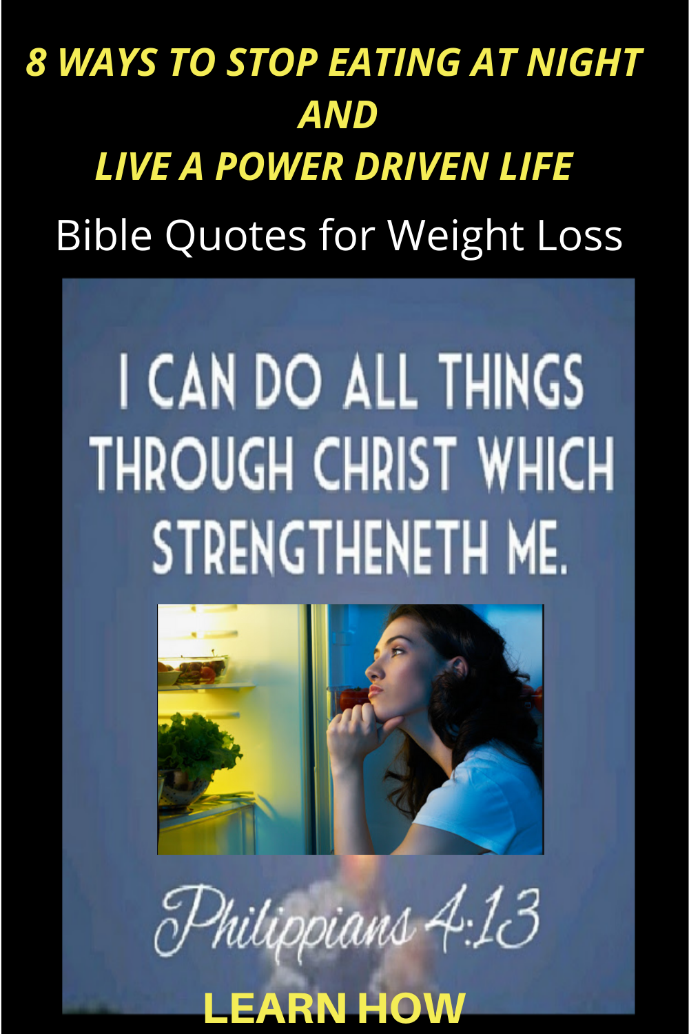 Stop eating at night - weight loss help for christians