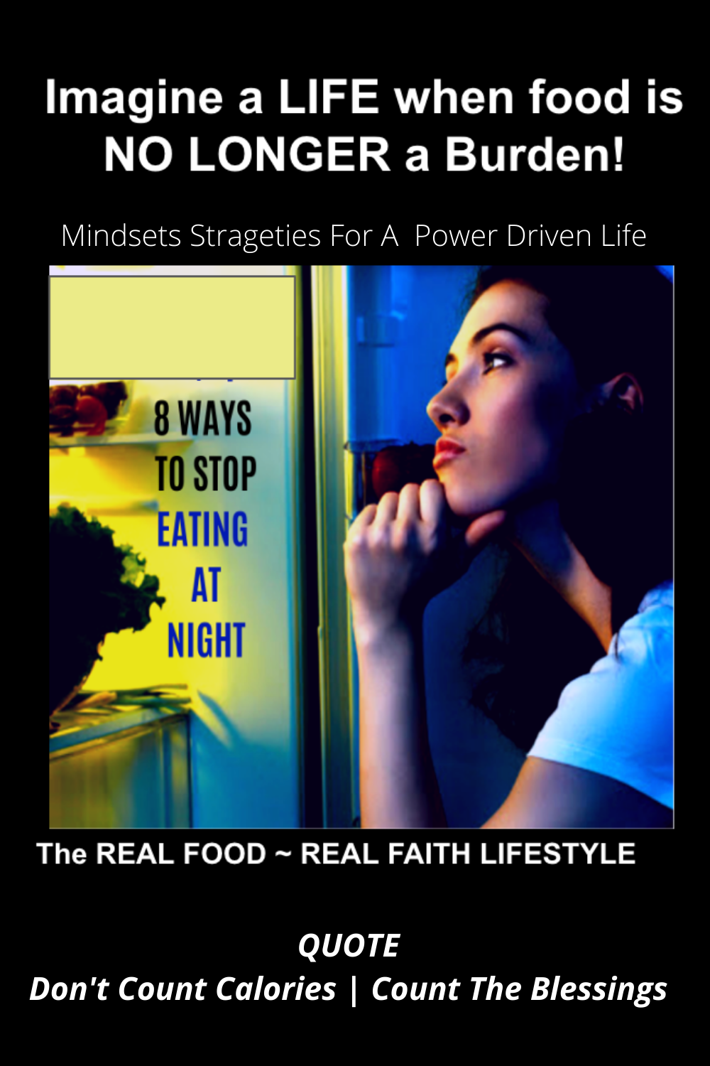 Stop eating at night - weight loss help for christians - overcoming night time eating